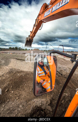 Rail Construction Workers - Stock Photo