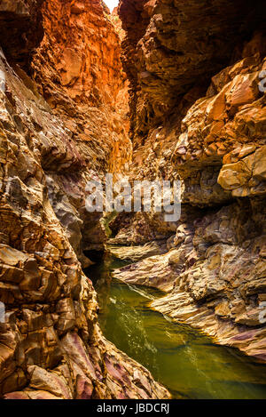 Redbank Gorge at West Macdonnell Ranges, Northern Territory - Stock Photo