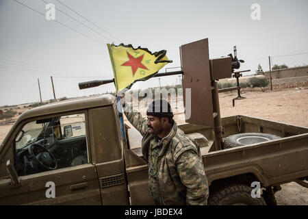 Chris Huby / Le Pictorium -  Syria / Rojava - Wrath of the Euphrates -  21/12/2016  -  Rojava  -  SYRIE ROJAVA / - Stock Photo