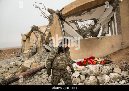 Chris Huby / Le Pictorium -  Syria / Rojava - Wrath of the Euphrates -  21/12/2016  -  Rojava  -  SYRIA ROJAVA / - Stock Photo