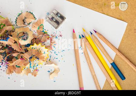 Pencil sharpening - Stock Photo