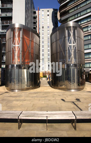 Base of Canaletto Tower City Road Islington London - Stock Photo