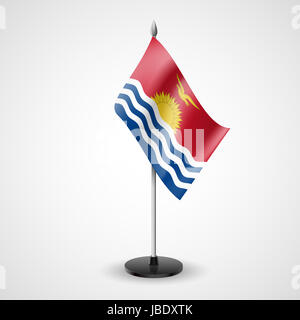 State table flag of Kiribati. National symbol - Stock Photo