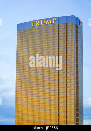 Trump Hotel in Las Vegas in the evening - LAS VEGAS - NEVADA - Stock Photo