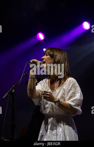 Broken Social Scene performing at Field Trip Music & Arts Festival 2017 featuring Feist, Amy Milan of STARS and - Stock Photo