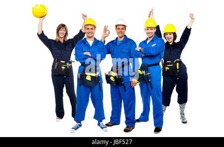Successful Architects architects celebrating stock photo, royalty free image: 78124786
