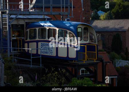Bridgenorth Cliff Railway. Shropshire. UK - Stock Photo