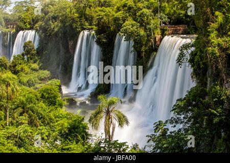 Iguassu Falls Argentina and Brazil - Stock Photo