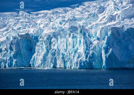 Glacier at Paradise Harbor, Antarctica - Stock Photo