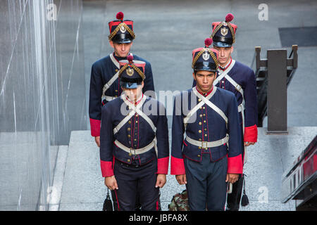 Changing of the guards at Independence Square, Montevideo, Uruguay - Stock Photo