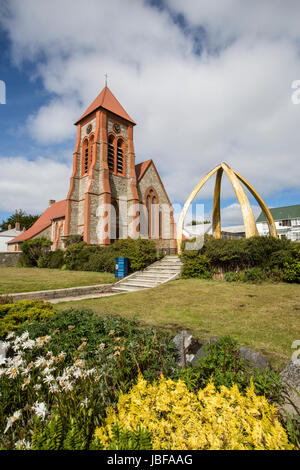 Christ Church Cathedral at Port Stanley, Falkland Islands - Stock Photo