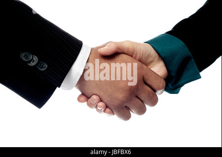 The deal is finalized, congratulations! - Stock Photo