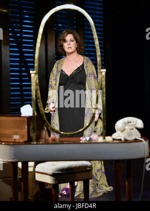 Marcia Gay Harden in the role of The Princess Kosmonopolis aka Alexandra del Lago in a scene from Tennessee Williams - Stock Photo