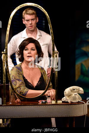 Marcia Gay Harden in the role of The Princess Kosmonopolis aka Alexandra del Lago & Brian J. Smith playing Chance - Stock Photo