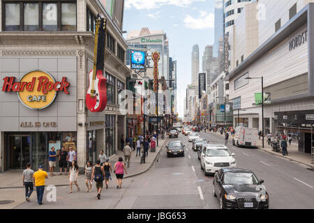 Yonge Street, downtown Toronto, Ontario, Canada - Stock Photo