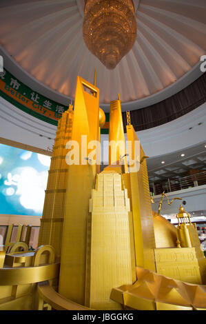 Enormous scale model of the future Shanghai at the Shanghai Urban Planning Exhibition Center, China, 2013. - Stock Photo