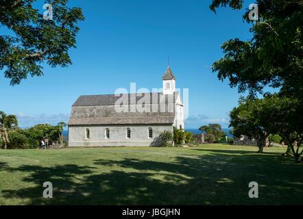 St. Joseph's Catholic Church; Kaupo, Maui, Hawaii, United States of America. - Stock Photo