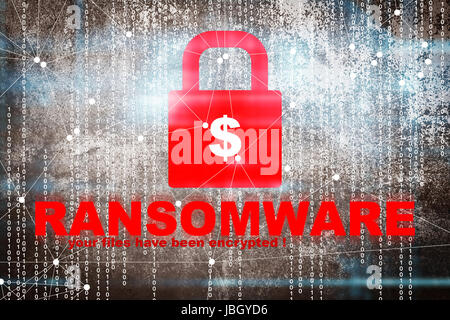 Ransomware,Cyber security concept - Stock Photo