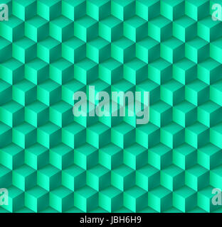 Abstract geometric background with cubes in cyan - Stock Photo
