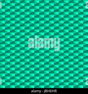Abstract geometric background with rhombus pattern in cyan - Stock Photo