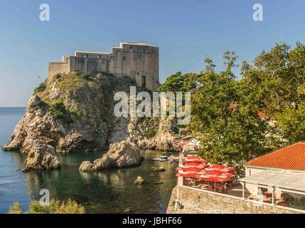 October 5, 2004 - Dubrovnik-Neretva County, Croatia - Fort Lovrijenac (St. Lawrence Fortress), often called ''Dubrovnik's - Stock Photo