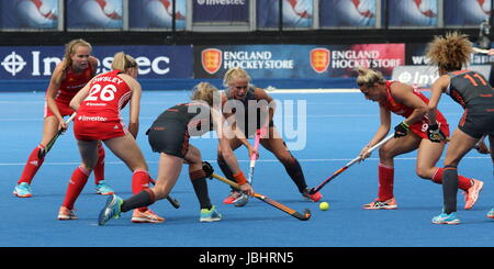 London, UK. 11th June, 2017. Investec International - Women's Hockey England v Netherlands. Lee Valley Hockey and - Stock Photo