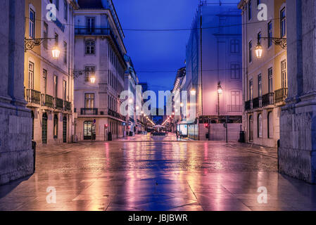 Lisbon, Portugal: Rua de Augusta, Augusta street - Stock Photo