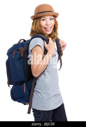 Woman traveler - Stock Photo