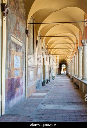 BOLOGNA, ITALY - MARCH 17, 2014: Old cemetery (certosa) by St. Girolamo church. - Stock Photo