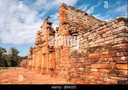 San Ignacio-Mini mission founded in 1632 by the Jesuits, Misiones Province, Argentina. - Stock Photo