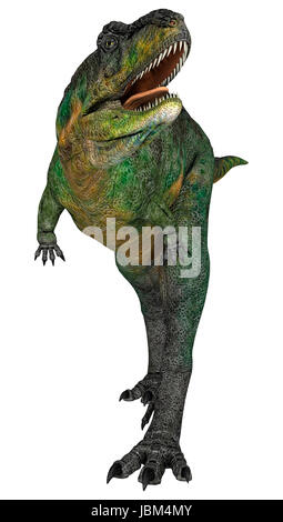 3D digital render of a crying dinosaur Aucasaurus isolated on white background - Stock Photo