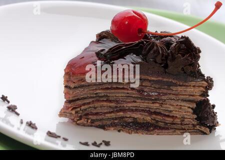 Chocolate Mousse Cake Slice Calorie