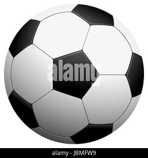 black and white football vector illustration - Stock Photo