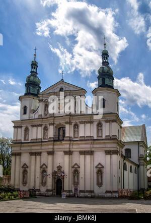 view on St Bernards Church in Krakow, Poland. - Stock Photo
