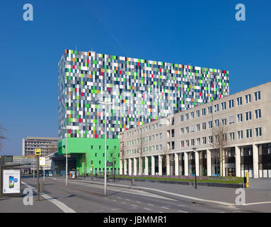modern architecture on the campus of the Utrecht University in the Netherlands. It is a place where education, research - Stock Photo