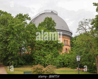 POTSDAM, GERMANY - MAY 10, 2014: The Einstein Turm astrophysical observatory was designed by architect Erich Mendelsohn - Stock Photo