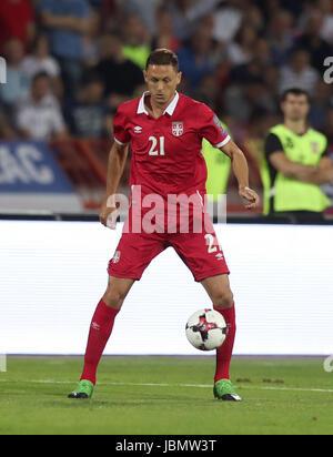 Serbia's Nemanja Matic during the 2018 FIFA World Cup Qualifying, Group D match at the Rajko Mitic Stadium, Belgrade. - Stock Photo