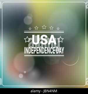 United States Independence Day Holiday 4 July Banner Greeting Card - Stock Photo