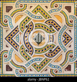 TURIN, ITALY - MARCH 15, 2017: The mosaic on the pulpit in church Chiesa di San Dalmazzo by unknown artist of 20 - Stock Photo