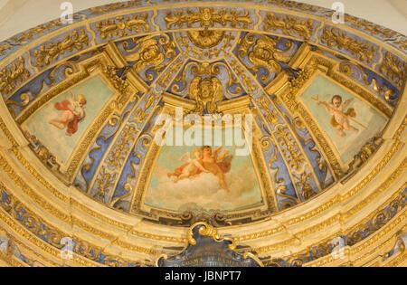 TURIN, ITALY - MARCH 13, 2017: The baroque apse of side chapel in Cattedrale di San Giovanni Battista by Giovanni - Stock Photo