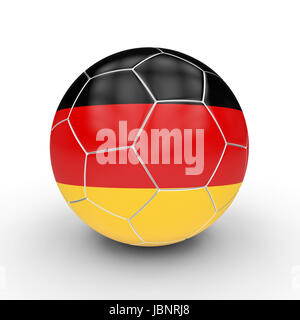 soccer ball germany flag 3d rendering image - Stock Photo