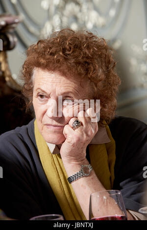 Elisabeth Luard at the Oldie Literary Lunch 06-06-17, - Stock Photo