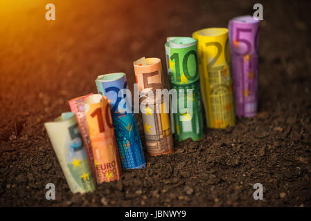Euro funds for agriculture, financing of agricultural expenditure - Stock Photo