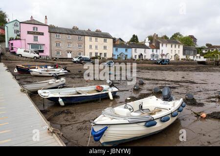 Picturesque village of Dittisham in South Devon - Stock Photo