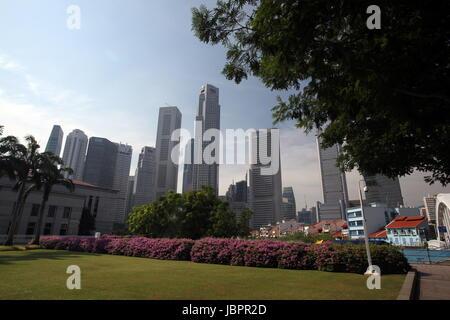 Asien, Suedost, Singapur, Insel, Staat, Stadt, City, Skyline, Zentrum, Boat Quay, Bankenviertel, Metropole, Banken, - Stock Photo