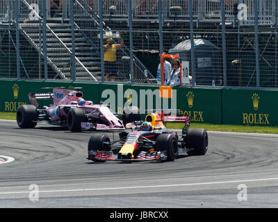 MONTREAL, QC - 06/06/2017: Daniel Ricciardo for Red Bull Racing  on track during the Canadian Formula One Grand - Stock Photo