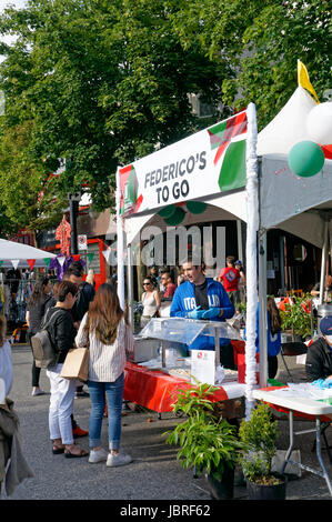 Market Street Edinburgh Street Food Stalls During Fringe