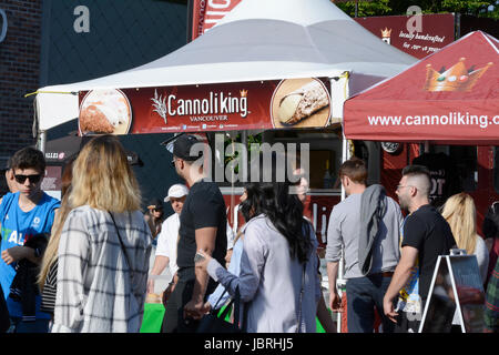 Vancouver, BC, Canada. 11th June, 2017. A large number of people on Commercial Drive in Vancouver at 'Italian Day - Stock Photo