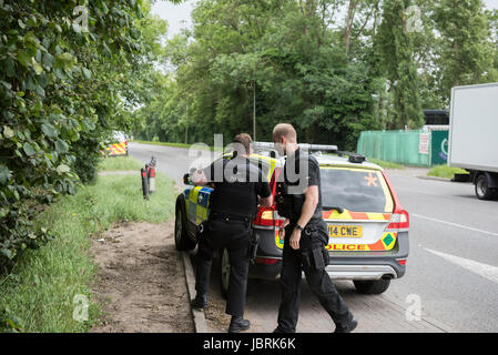 Slough, UK. 12th June 2017. Thames Valley Police has launched a murder investigation following the death of a man - Stock Photo