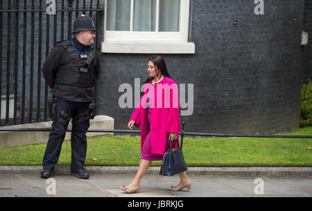 Downing Street, London, UK. 12th June, 2017. Priti Patel, Secretary of State for International Development, arrives - Stock Photo